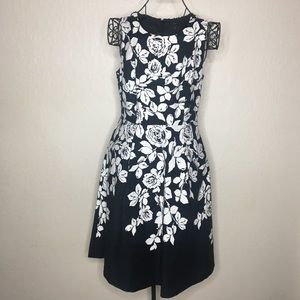 Talbots floral a-line dress with pockets #209